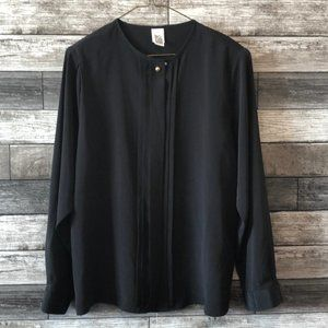 VTG Cleo Women's Black Career Blouse